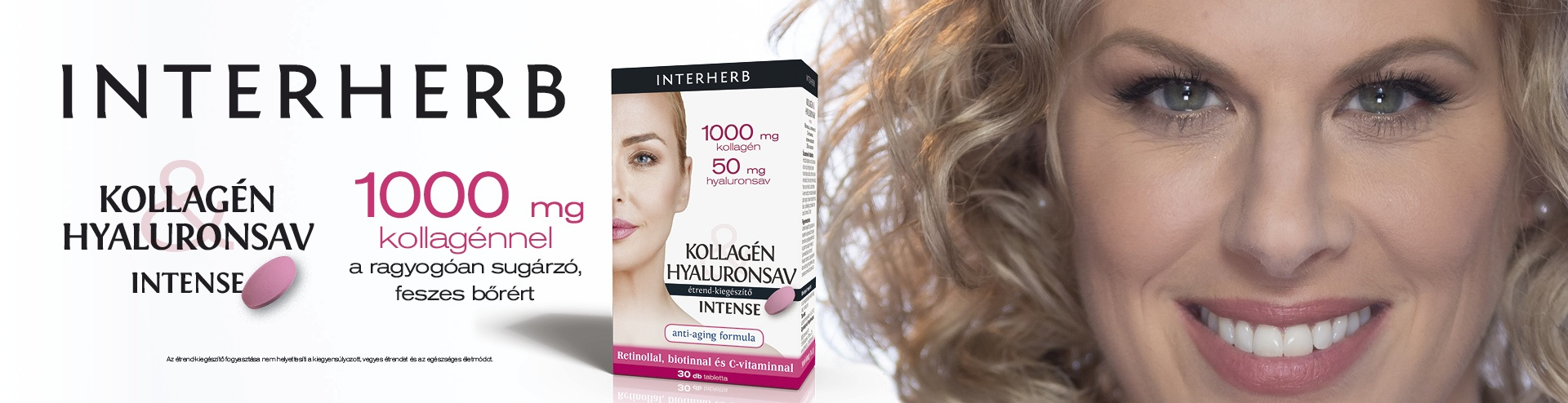 Interherb Kollagén és Hyaluronsav Intense 1000 mg